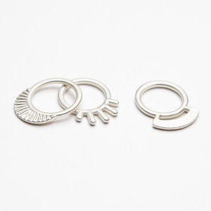 Free People Temple Stacking Rings Silver Ring Set